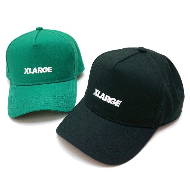 全2色 XLARGE エクストララージ キャップ STANDARD LOGO 5PANEL CAP ブラック グリーン