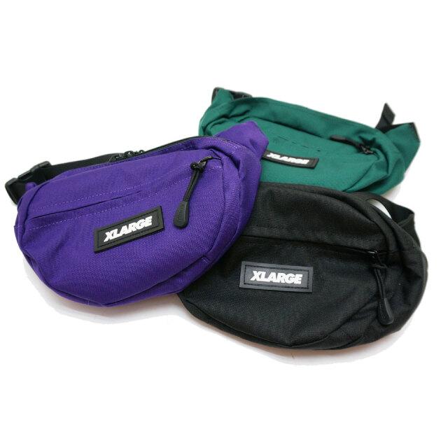 全3色 XLARGE エクストララージ ウエストバッグ PATCHED WAIST BAG ブラック グリーン パープル