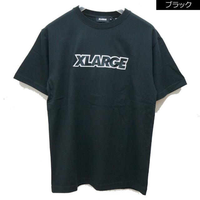 全2色 エクストララージ XLARGE Tシャツ STANDARD LOGO PATCH S/S Tee ブラック ホワイト