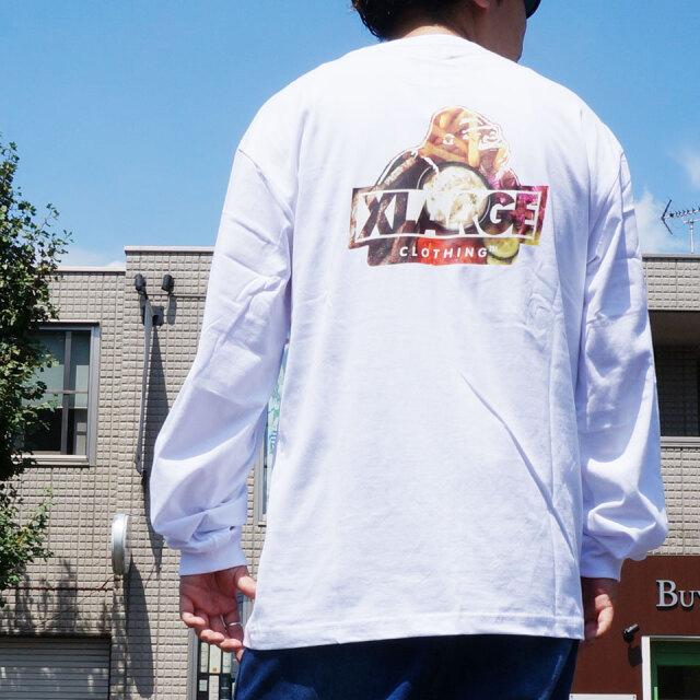 全4色 エクストララージ XLARGE ロンT Tシャツ GRUB SLANTED OG POCKET L/S Tee ホワイト ブラック グリーン イエロー