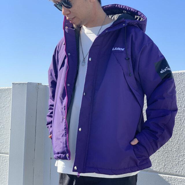 全2色 エクストララージ XLARGE × WILD THINGS CHAMONIX JACKET ナイロンジャケット ブラック 黒 パープル 紫 コラボ