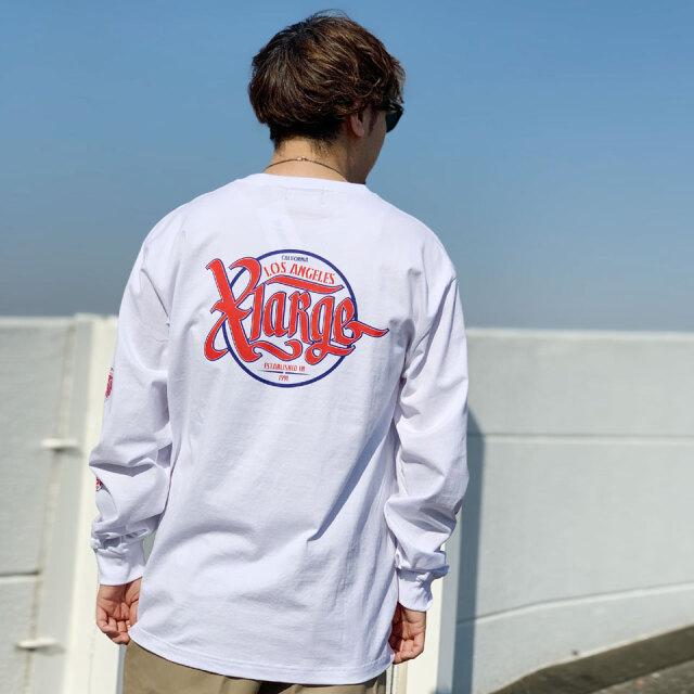 全2色 エクストララージ XLARGE ロンT Tシャツ SCRIPT L/S Tee ホワイト ブラック