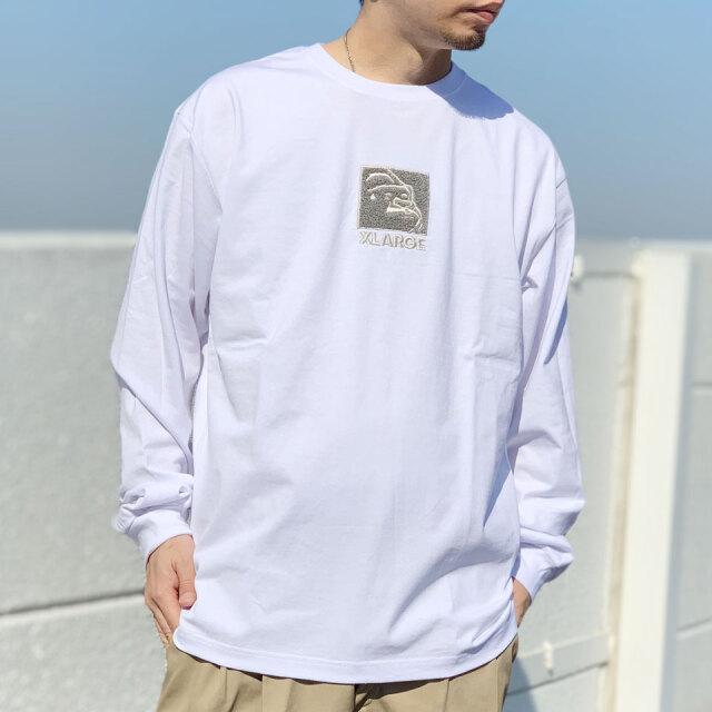 全3色 エクストララージ XLARGE ロンT Tシャツ SQUARE OG L/S Tee ホワイト ブラック イエロー