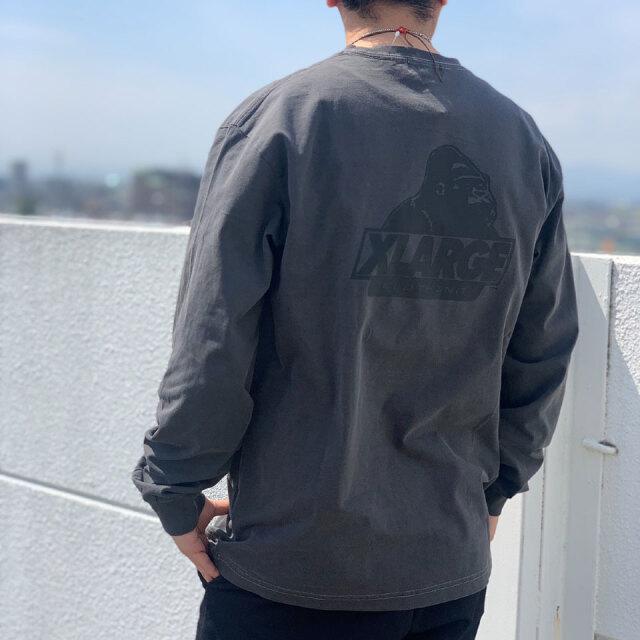 全2色 XLARGE エクストララージ PIGMENT OLD OG L/S Tee ロンT Tシャツ ブラック ネイビー