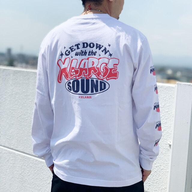 全2色 XLARGE エクストララージ SOUND L/S Tee ロンT Tシャツ ホワイト ブラック
