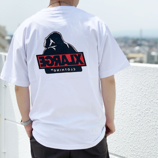 全3色 エクストララージ XLARGE Tシャツ S/S TEE SLANTED OG ホワイト ブラック ライトパープル