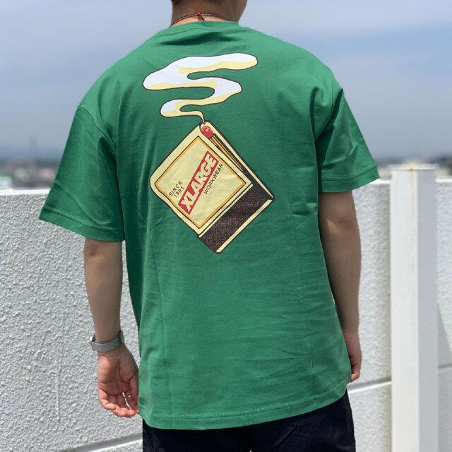 全2色 エクストララージ XLARGE Tシャツ  S/S POCKET TEE MATCHES ブラック グリーン