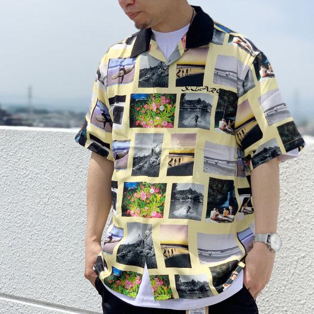 全2色 XLARGE エクストララージ アロハシャツ S/S ALLOVER PHOTO PRINT SHIRT 半袖シャツ イエロー パープル