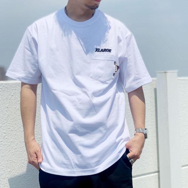 全2色 エクストララージ XLARGE Tシャツ S/S POCKET TEE KEITH バックプリント ポケットTシャツ ブラック ホワイト