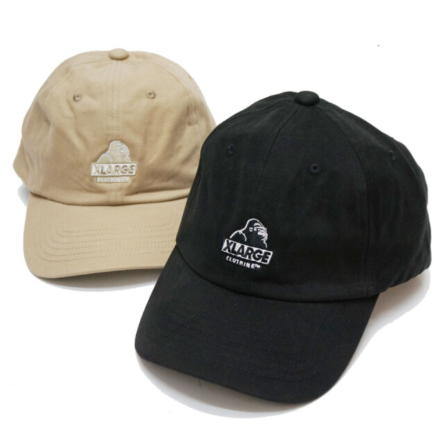 全2色 エクストララージ  XLARGE ローキャップ SLANTED OG 6PANEL CAP キャップ 帽子 定番ロゴ ブラック ベージュ