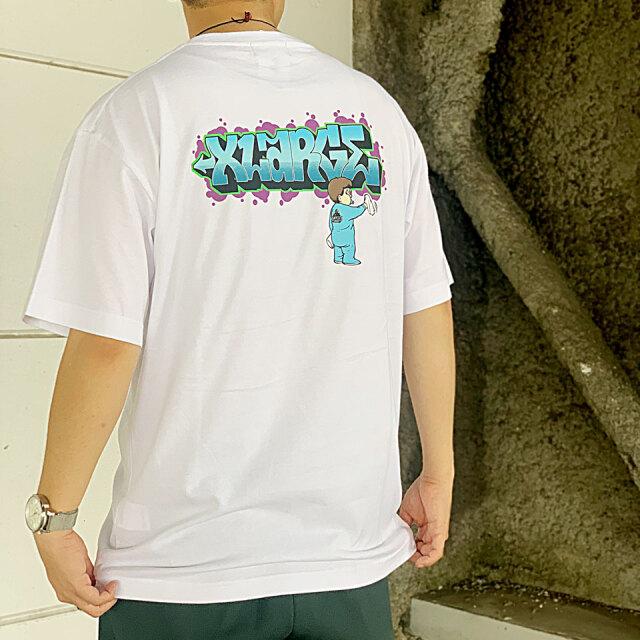 全2色 エクストララージ XLARGE Tシャツ S/S TEE BUFF バックプリント 半袖 ホワイト ブラック