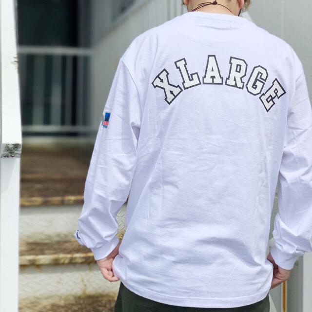 全2色 エクストララージ XLARGE ロンT Tシャツ TEAM L/S Tee 長袖 バックプリント ホワイト ブラック