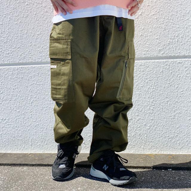 全2色 エクストララージ XLARGE × GRAMICCI RESORT CARGO PANTS リゾートパンツ カーゴパンツ コラボ ブラック オリーブ