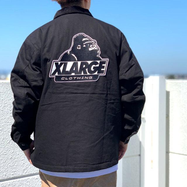 全2色 エクストララージ XLARGE ワークジャケット OG WORK JACKET 定番ロゴ アウター ブラック オフホワイト