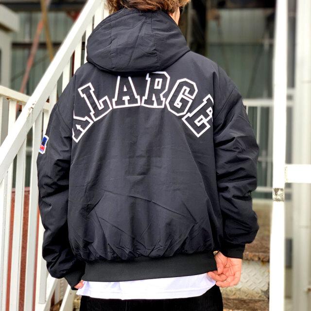 全2色 エクストララージ XLARGE ナイロンジャケット NYLON PUFFER JACKET 中綿ジャケット ブラック カーキ 黒 BLACK KHAKI