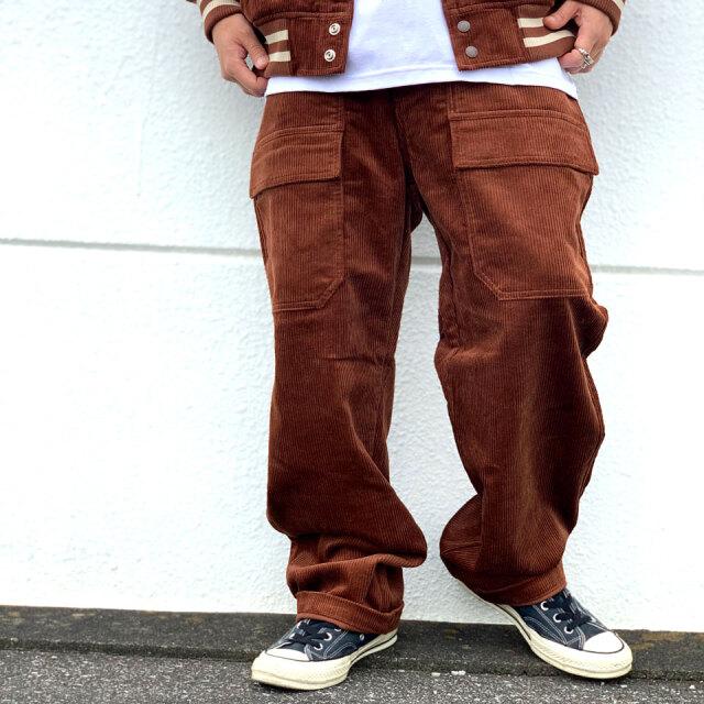 全2色 エクストララージ XLARGE ベイカーパンツ コーデュロイパンツ CORDUROY BAKER PANTS ブラック ブラウン 黒 茶色 BROWN BLACK