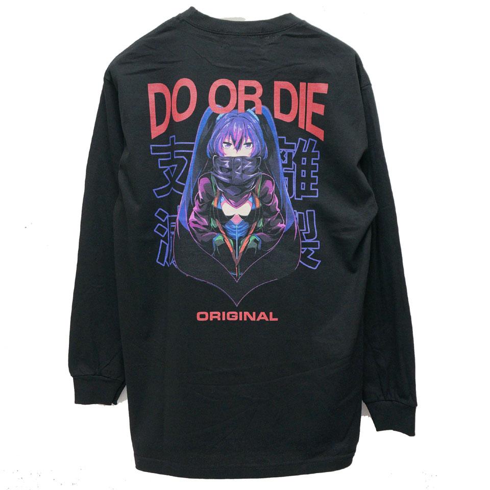 LONELY論理 ロンリー DO OR DIE L/S Tee ロンT Tシャツ ブラック