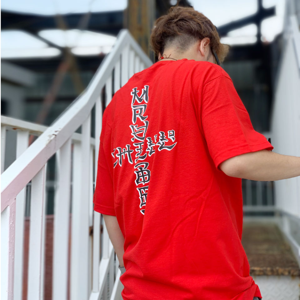 MRV by Mr.vibes Tシャツ ANIMAL CHILL S/S Tee 半袖 オリジナル レッド