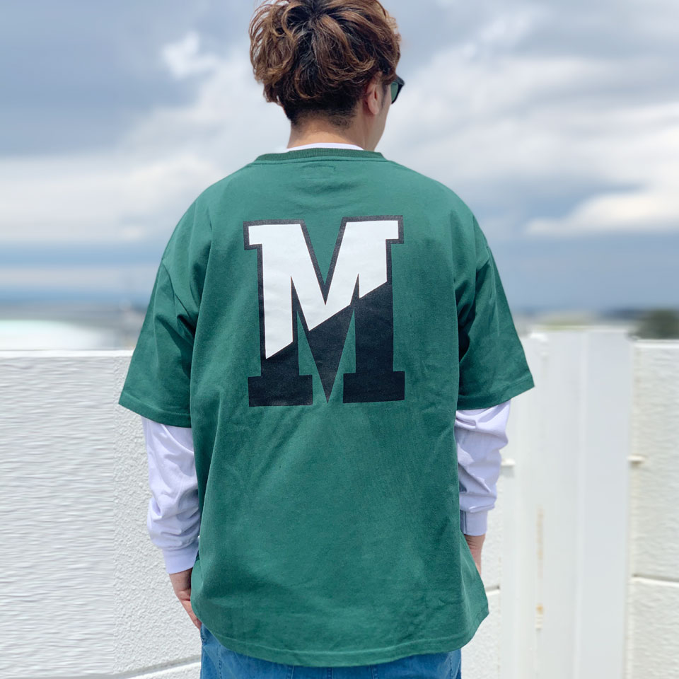 MRV by Mr.vibes Tシャツ MRVIBES COLLEGE LOGO S/S Tee オリジナル ミスターバイブス カレッジロゴ グリーン 緑 GREEN
