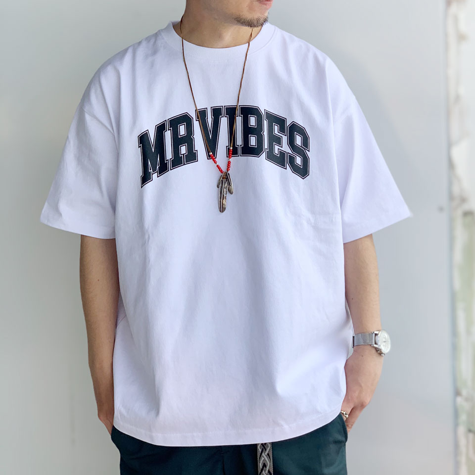 MRV by Mr.vibes Tシャツ MRVIBES COLLEGE LOGO S/S Tee オリジナル ミスターバイブス カレッジロゴ ホワイト 白 WHITE