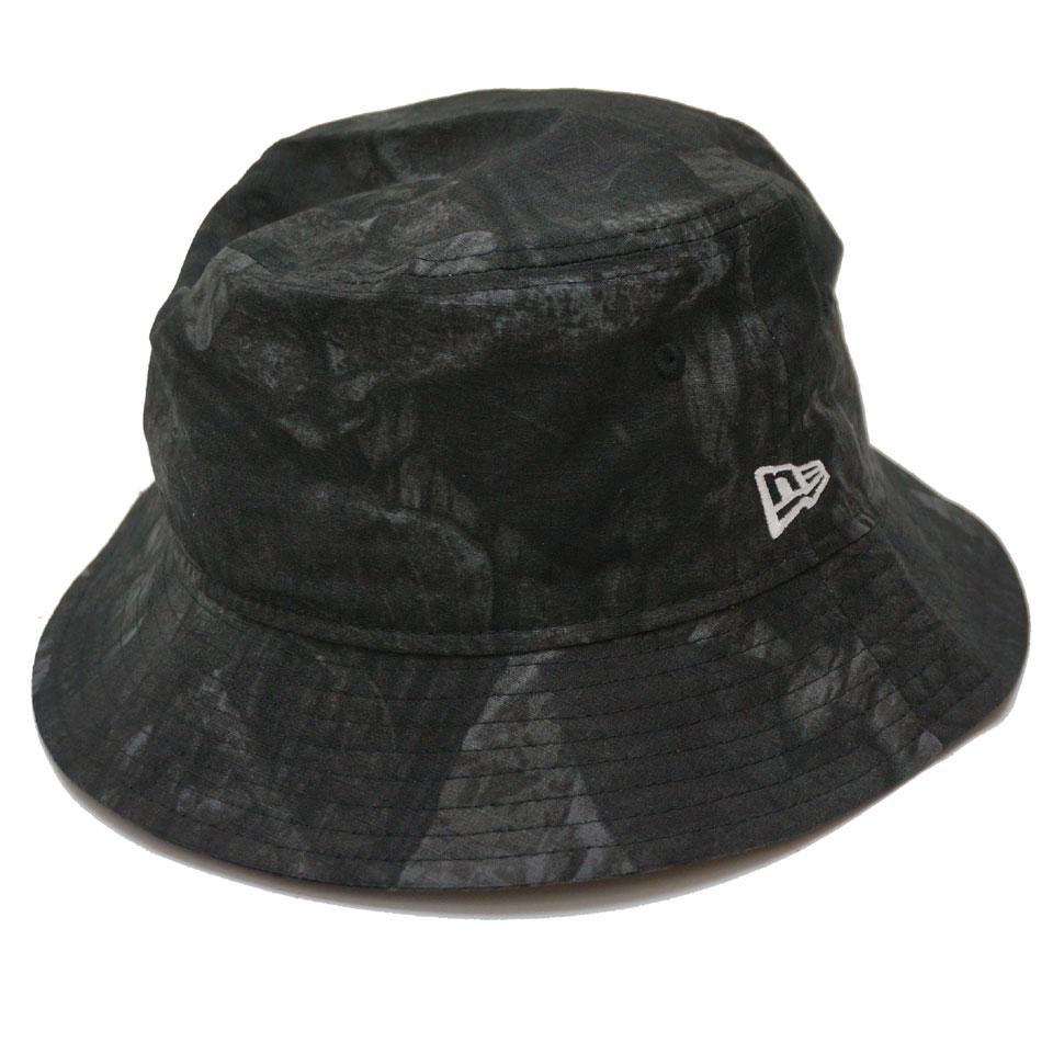 NEW ERA ニューエラ バケットハット NIGHT TREE CAMO BUCKET 帽子 ハット 迷彩 ブラック