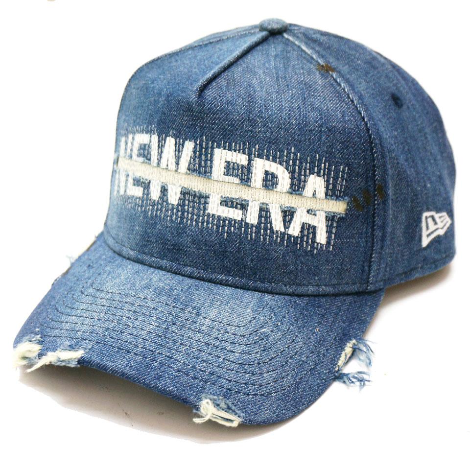 NEW ERA ニューエラ キャップ 9FORTY A-FRAME DAMAGE DENIM CAP キャップ 帽子 デニム