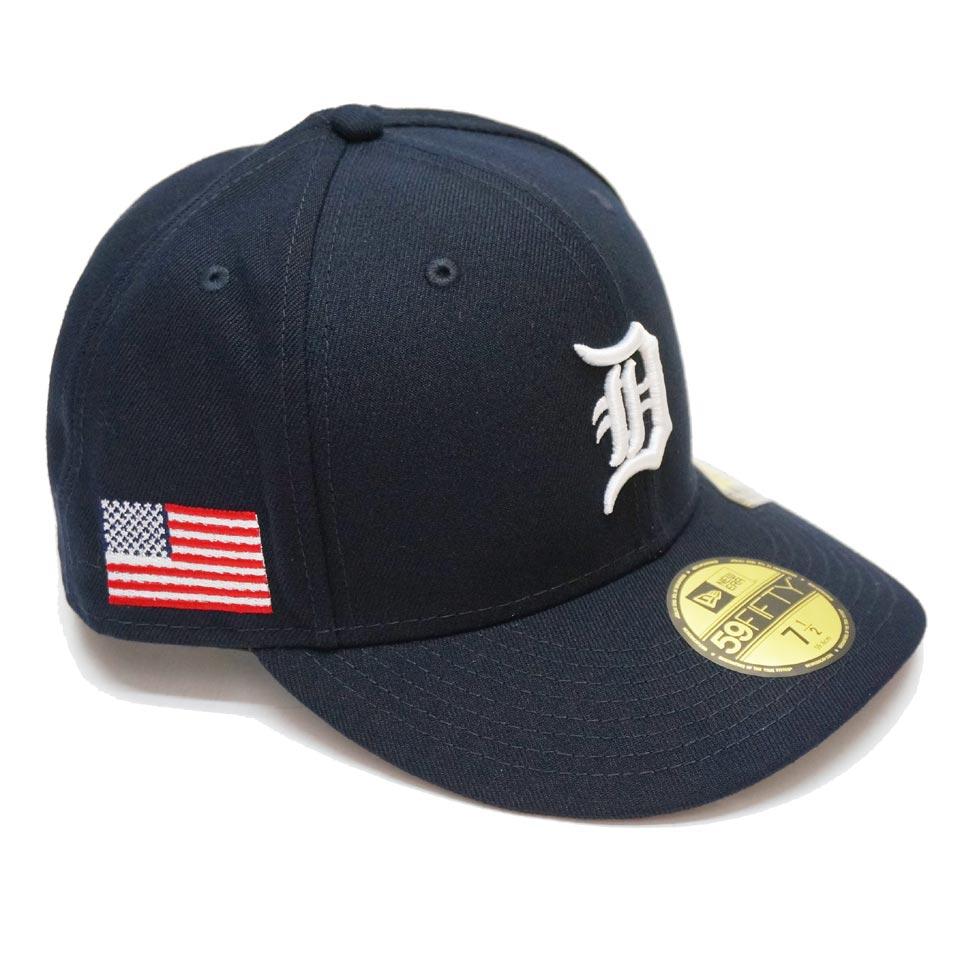 ニューエラ NEW ERA キャップ PRE CURVED 59FIFTY FITTED CAP DETROIT TIGERS 帽子 デトロイトタイガース ネイビー