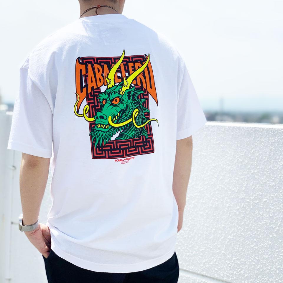 全2色 パウエルペラルタ POWELL PERALTA Tシャツ CAB STREET DRAGON S/S Tee ホワイト ブラック