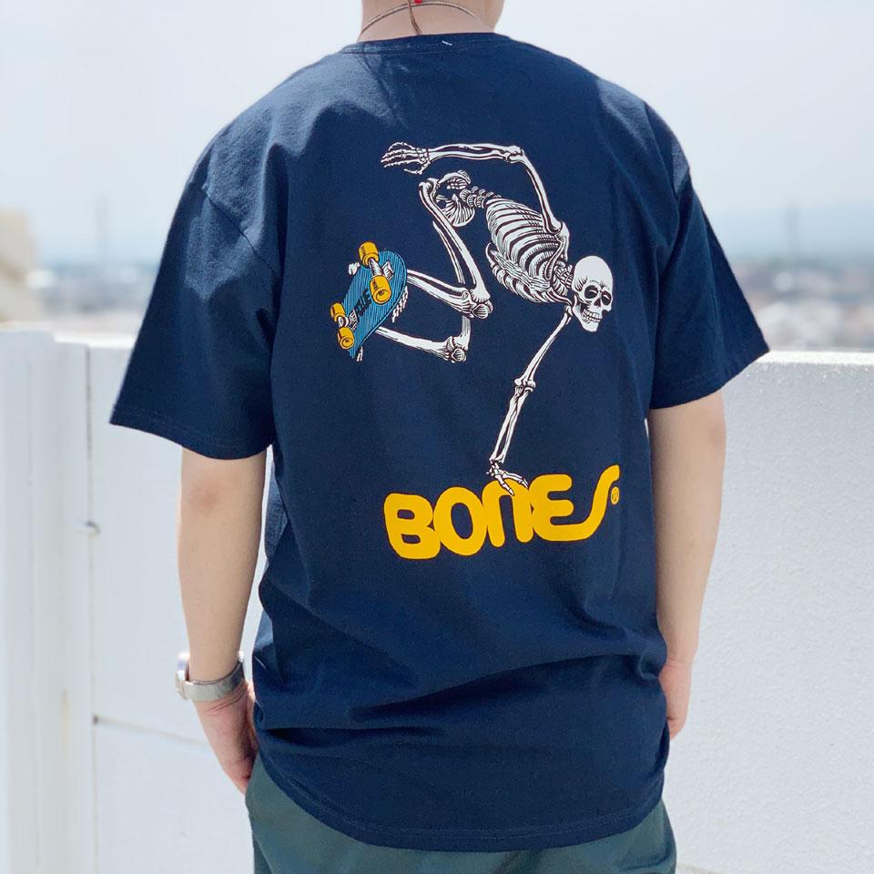 全4色 パウエルペラルタ POWELL PERALTA Tシャツ SKATE BOARD SKELTON S/S Tee スケートボードスケルトン ホワイト ブラック ネイビー イエロー
