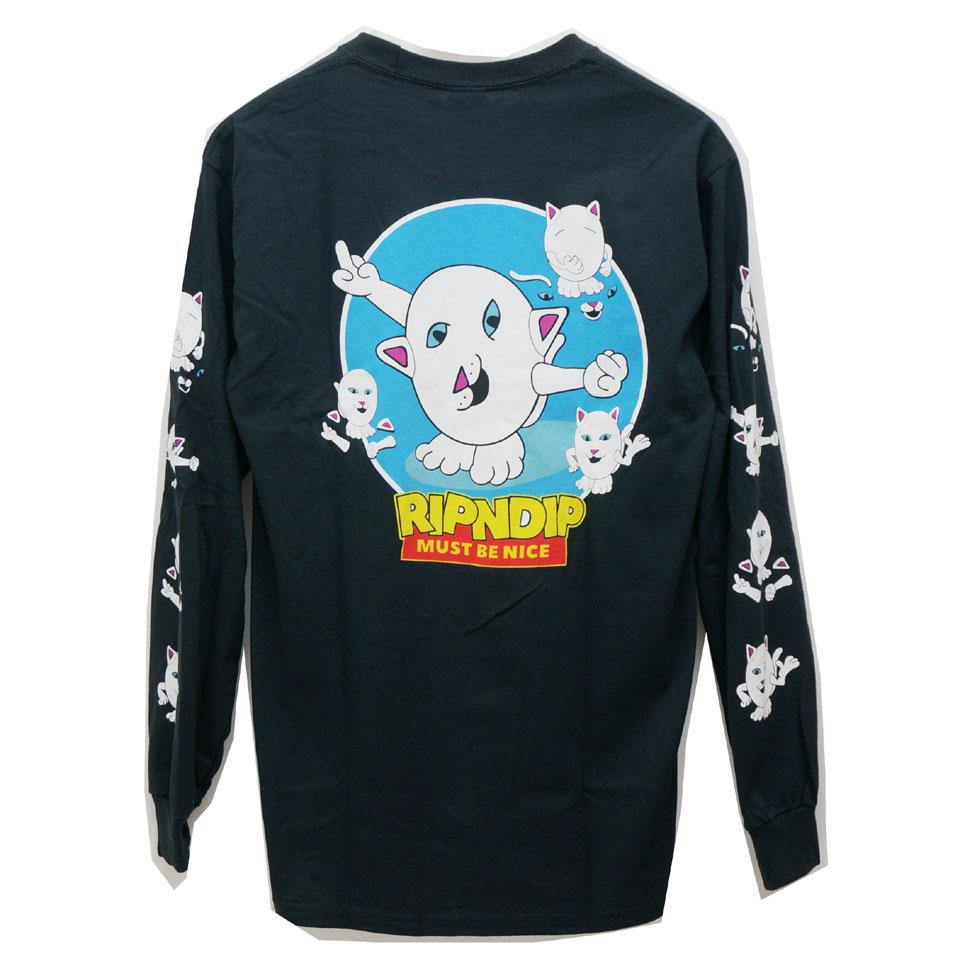 リップンディップ RIPNDIP ロンT Tシャツ NERM STORY L/S Tee 長袖 ブラック 黒 BLACK