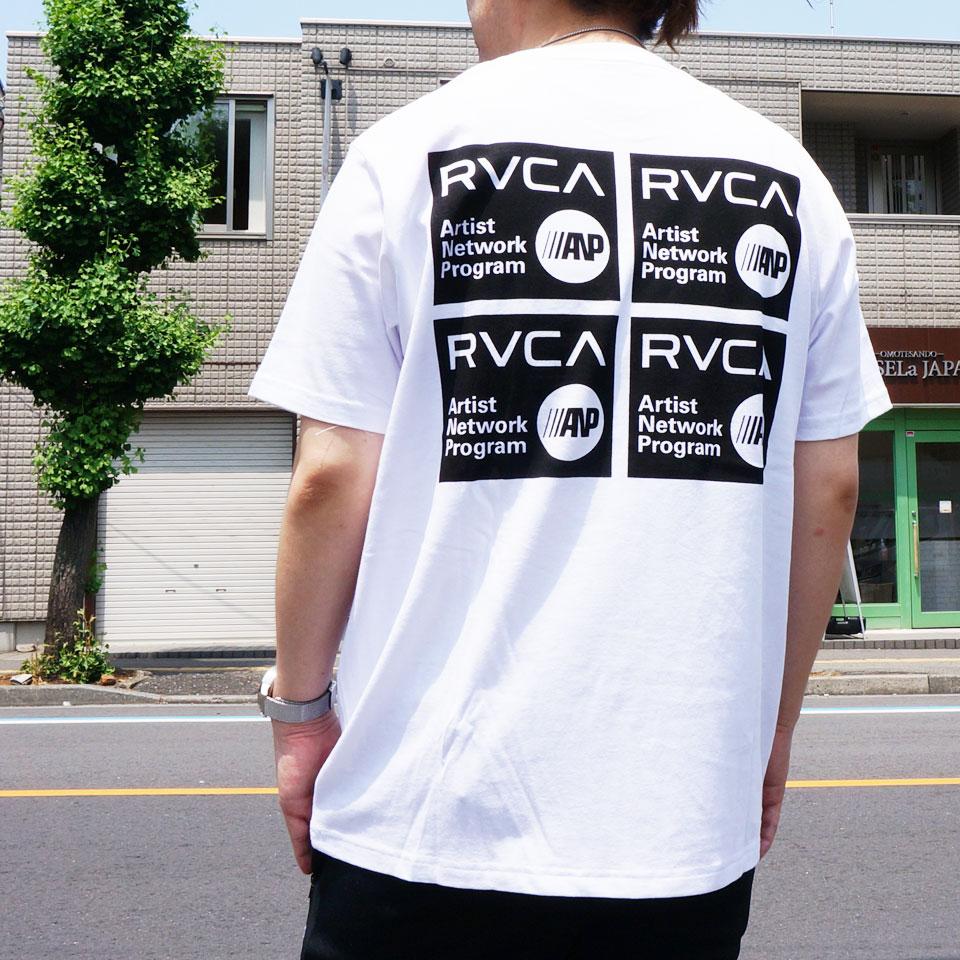 全2色 RVCA ルーカ Tシャツ ANP STICKER S/S Tee バックプリント ホワイト ダークカーキ BA041256