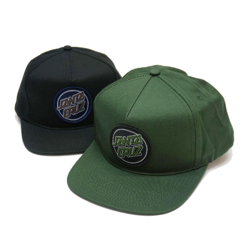サンタクルーズ SANTA CRUZ サンタクルズ キャップ KEY LINE DOT SNAPBACK 帽子 スナップバック ブラック フォレストグリーン