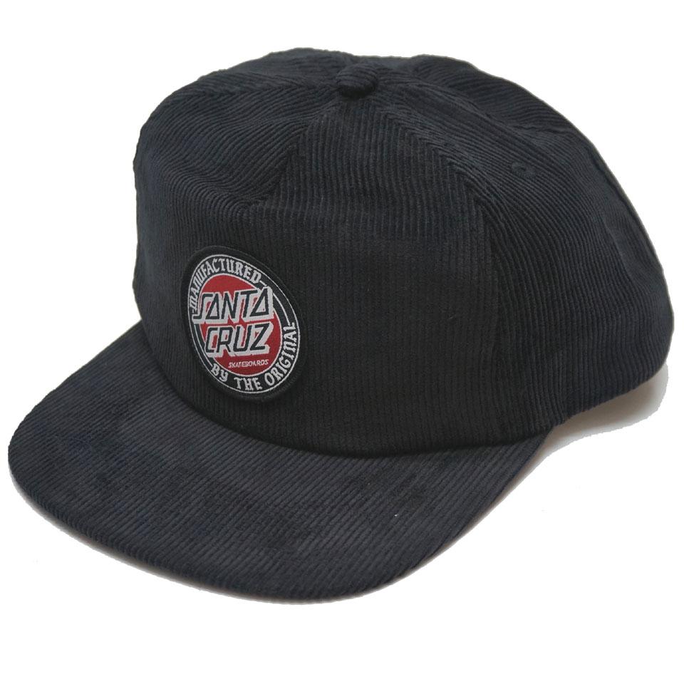 サンタクルーズ SANTA CRUZ サンタクルズ キャップ MFG DOT SNAPBACK 帽子 スナップバック コーデュロイ ブラック