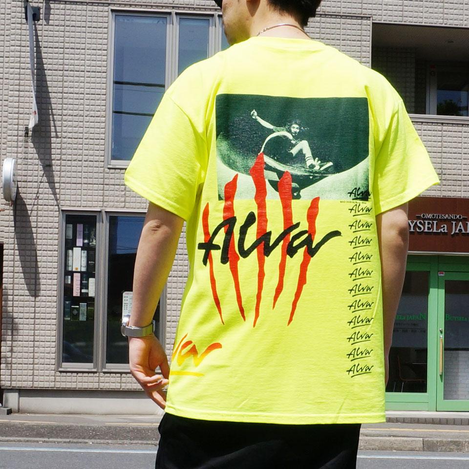 当店限定カラー TONY ALVA トニーアルバ ALVA SKATES Tシャツ SCRATCH LOGO S/S Tee