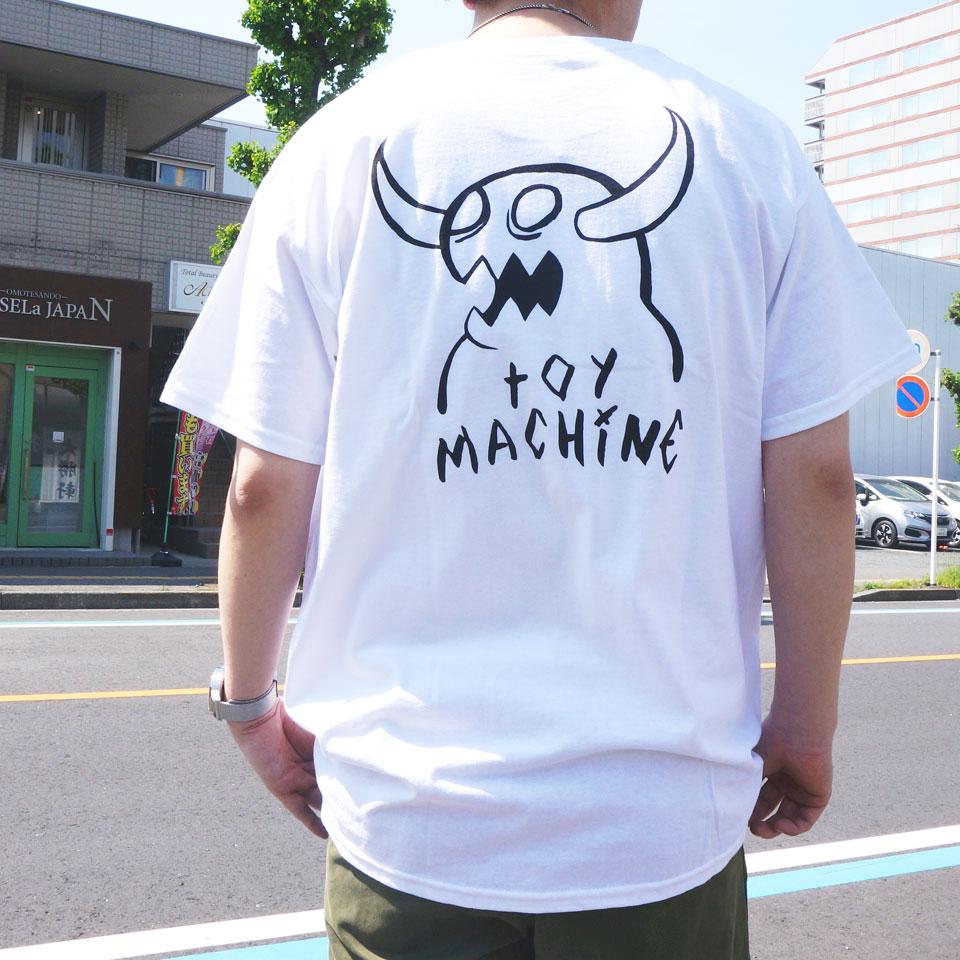 SALE セール 全2色 TOY MACHINE トイマシーン Tシャツ MONSTER MARKED  S/S Tee ホワイト ブラック TMS20ST20