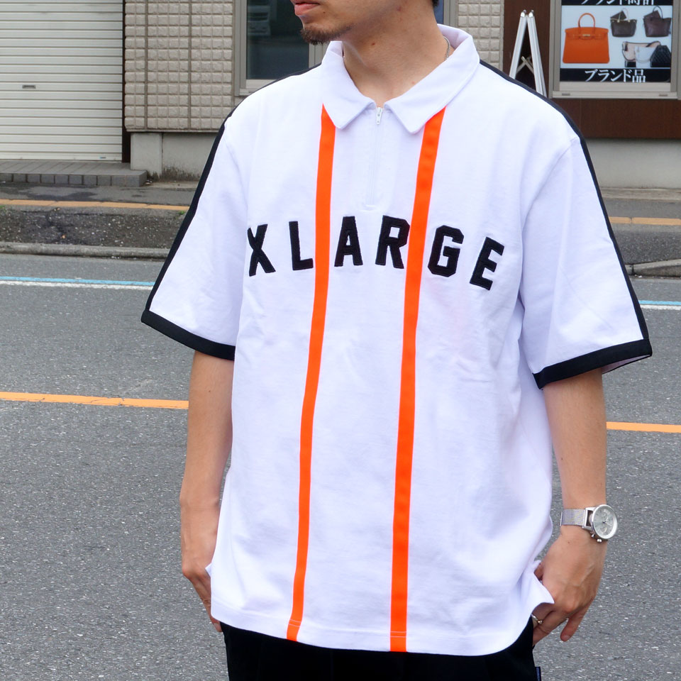 XLARGE エクストララージ Tシャツ HALF ZIP SHIRT 01192408