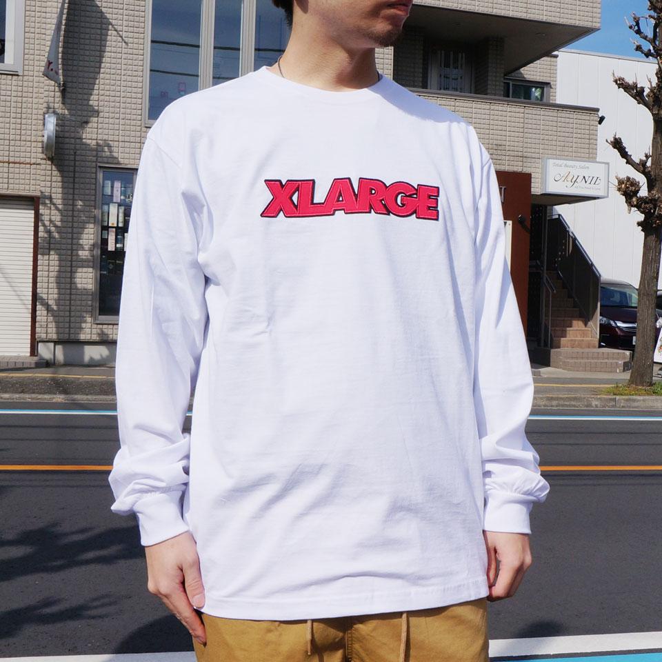 エクストララージ XLARGE ロンT Tシャツ OVER EDGE STANDARD LOGO L/S Tee 長袖 オリジナルロゴ 01201116
