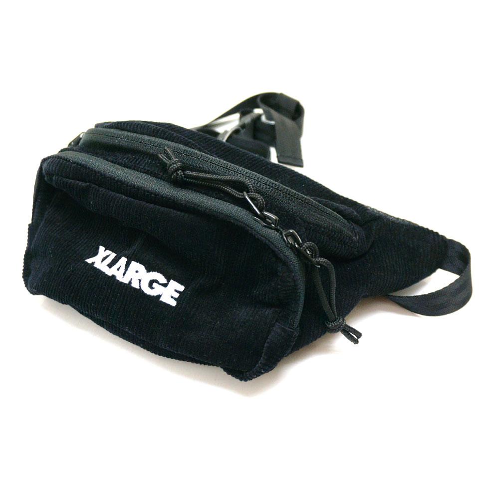 XLARGE エクストララージ ウエストバッグ COURDUROY WAIST BAG ブラック