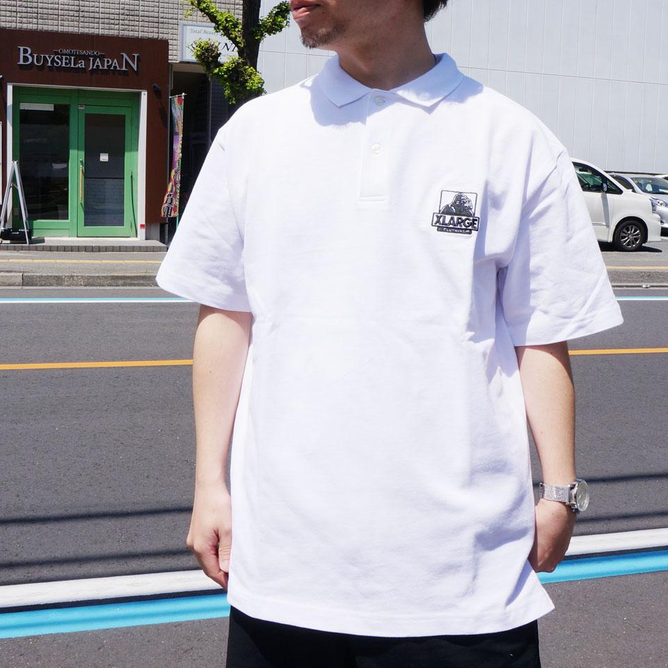 エクストララージ XLARGE ポロシャツ EMBROIDERED OG LOGO POLO 半袖 ホワイト ブラック