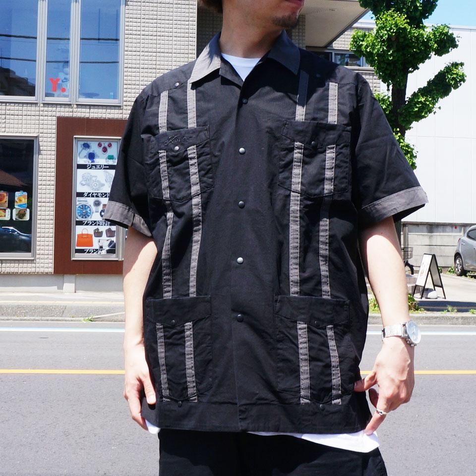 XLARGE エクストララージ キューバシャツ S/S CUBA SHIRT 開襟シャツ 半袖シャツ ブラック