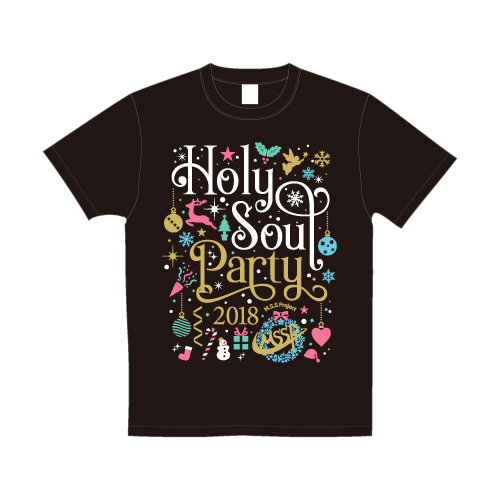 Holy Soul Party 2018 Tシャツ(缶バッジ付)/L