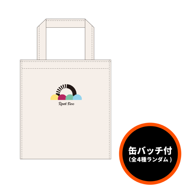 ROOT FIVE ミニトート&缶バッジ