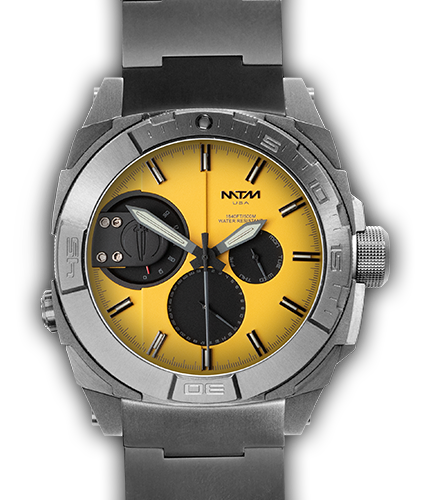 US-744X Silver - Yellow Dial - Silver Tit Band