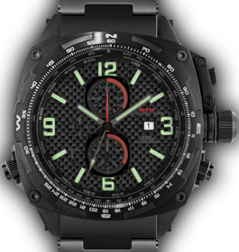 Cobra Black - Carbon Lumi Dial - Tit Band