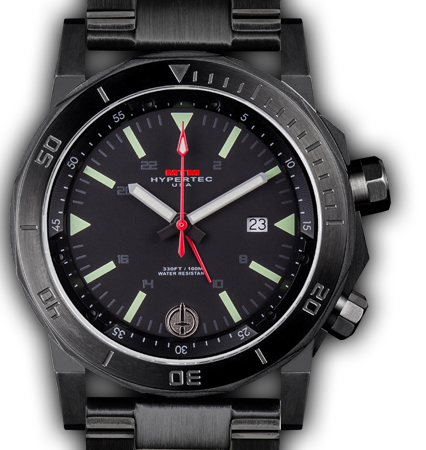 H-61 Black-Lumi Dial-Stainless Steel Band