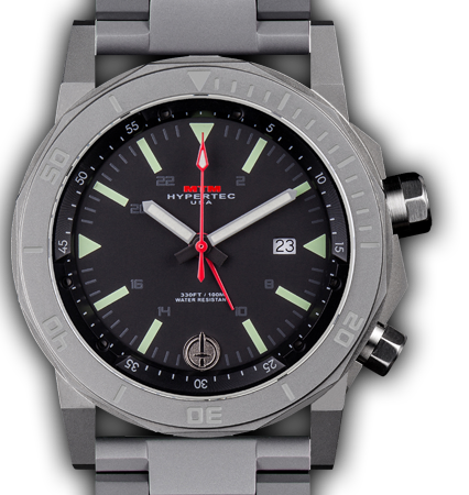 H-61 Grey-Lumi Dial-Stainless Steell Band