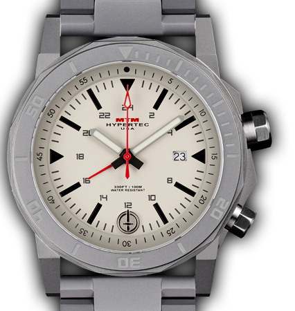 H-61 Grey-Tan Dial-Stainless Steel Band