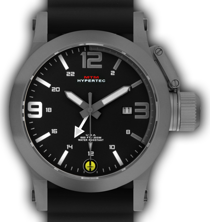 HYPERTEC 44 GREY - GREY-WHITE DIAL - BLACK RUBBER I- SILVER Buckle