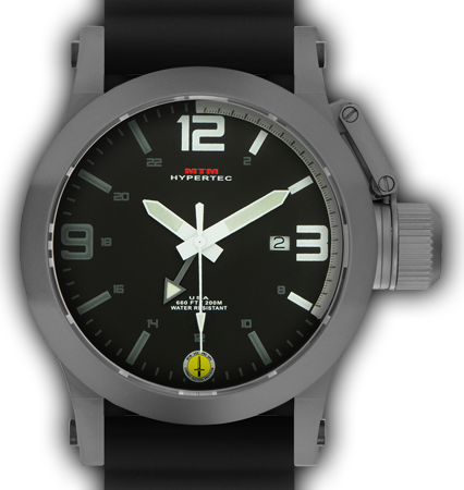 HYPERTEC 44 GREY - WHITE DIAL - BLACK RUBBER I- SILVER Buckle