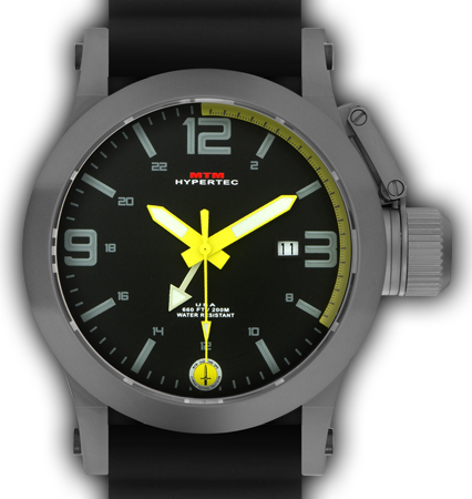 HYPERTEC 44 GREY - YELLOW DIAL - BLACK RUBBER I- SILVER Buckle